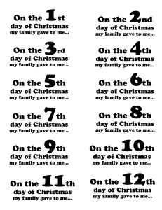 12 days of christmas presents